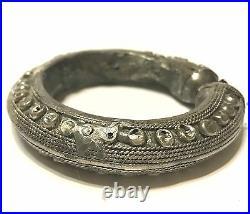 Antique Yemen Yemenite Islamic Tribal Bedouin Hand Made Cuff Bracelet Jewelry