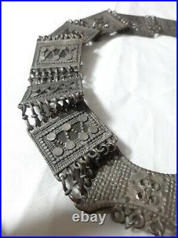 Antique Yemeni silver Bedouin Jewish Handmade belt waistband 210gram