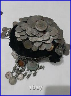 Antique Yemeni silver Bedouin Jewish Handmade head cap Traditional