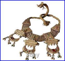 Antique Yemenite Necklace Silver filigree Yemen Islamic Massive Jewelry 445gr