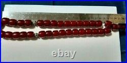 Antique amber Bakelite cherry amber PRAYER Tasbih BEADS 142.6 Gram