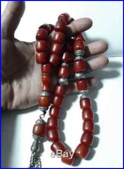Antique amber Bakelite cherry amber PRAYER Tasbih BEADS 160Gram