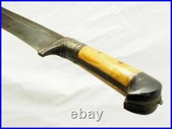 Antique islamic Afghan Khyber Knife Straigh Blade Short sword Dagger Messer KH25