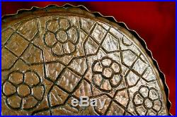 Antique islamic Arabic- Ornate Syrian Raised Cuerda Seca Enamel- Plaque