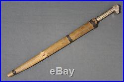 Antique kabyle Algerian flyssa (flissa) dagger Algeria early 20th century
