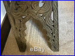 Antique large ornately carved wood tall Koran / Quran stand