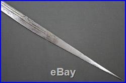 Antique long Berber (Algerian) flissa sword (yatagan shape) 19th century