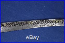 Antique long and heavy Berber flissa sword (yatagan shape) 18th early 19th