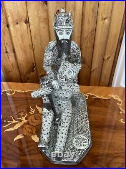 Antique museum quality Persian Islamic eastern Qajar Safavid pottery figure