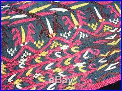 Antique orient Uzbek Teke Turkmen women's silk Embroidered coat chyrpy Mantel -A