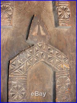 Antique orient Wonderfully relief handcarved Door panel Nuristan Afghanistan 11