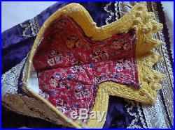 Antique ottoman embroidered silk velvet vest