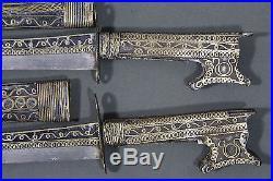 Antique pair of kabyle algerian flyssa (flissa nimcha) dagger Dated 1860