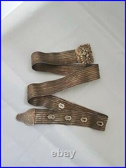 Antique silver ottoman turkish buckle belt trabzon hasir