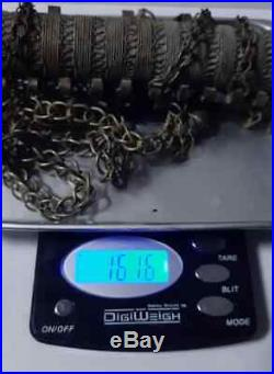Antique yemeni Handmade yemen Bedouin high grade silver, necklace 161 gram
