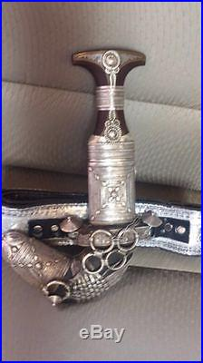 Antiques dagger Middle East Genuine silver