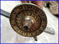 Arabic Antique Islamic Sword Silver Steel Dagger Arab Gold 18th Ottoman Vintage