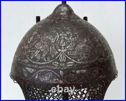 Authentic Antique Islamic Mughal Indo Persian Helmet to sword Talwar Shamshir