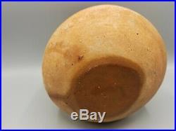 BIG DECORATED ANCIENT MIDDLE EASTERN POTTERY GLOBULAR POT JAR VESSEL c 1000 BCE