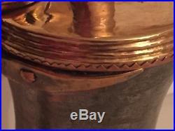 BIG VERY RARE Antique copper Bedouin Saudi Dallah Coffee Pot islamic art 42,5cm
