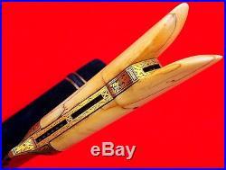 Beautiful 18th-19th C. Turkish Wootz Damascus KARD Dagger Rare Inlaid Beads