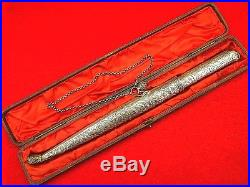 Beautiful All Silver Ottoman Turkish or Greek Presentation BICHAK Dagger Knife
