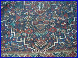 Beautiful Antique 1920's Authentic Middle Eastern Rug 7.4x10.1