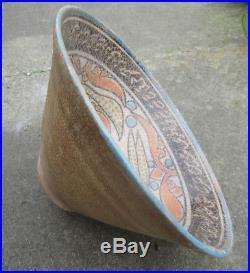 Beautiful Antique Islamic Middle Eastern Glazed Terracotta Bowl