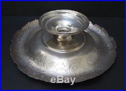 Beautiful Handchased Persian Tazza -Stamped 84 Silver - 21 ozt = 857 gr