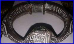 Beautiful Islamic Ottoman Arabic Mamluk Revival Silver Inlay Key Of Kaaba