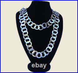 Beautiful Tunisian antique traditional silver necklace Rihana berbere