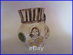 Beautiful antique Islamic glazed ceramic jug