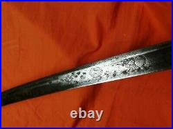 Carved Antique Saber Sword Hungary Austro Austria Erope shamshir saber cavalary