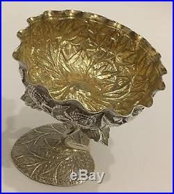 Exquisite Quality Repousse Chased Persian Islamic Indian Kashmir Silver Bowl
