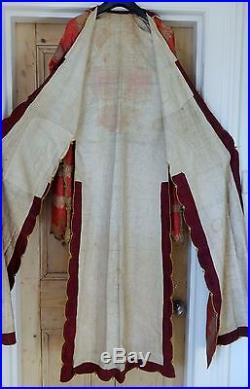 Early 19th Century Turkish Ottoman Empire Rose Pink Gold Metal Brocade Coat Robe