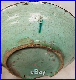Early Antique Iznik Ottoman Middle Eastern Islamic Art Bowl Dish