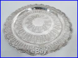 Exotic Tray Middle Eastern Stylish Serving Platter Egyptian 900 Silver