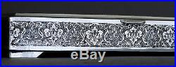 Extremely Fine Large Antique Persian Islamic Solid Silver Hallmarked Box 312 gr