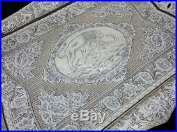 Extremely Fine Quality Antique Persian Tabriz Islamic Solid Silver Tray 883g