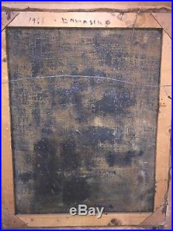 FATEH AL MOUDARRES Middle Eastern Modern Art painting antique Syria 1966