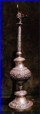 Fine Early North African Ottoman Era Solid Silver Rose Water Sprinkler Sgnd 1770