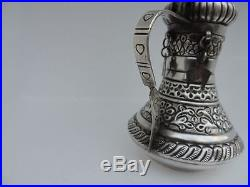 Finest Old Solid Sterling Silver Dallah Coffee Tea Pot Islamic Oman Indian Kuch