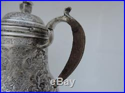 Finest Signed Antique Persian Islamic Isfahan Solid Silver Creamer Jug 339 Grams