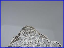 FINEST SIGNED ANTIQUE PERSIAN TABRIZ ARMENIAN SOLID SILVER TRAY 15.7 OZ 447 gr