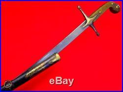 Fine 18th C. Ottoman Turkish Gold Gilt Silver SHAMSHIR Sword with Wootz Blade
