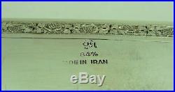 Fine Antique. 84 Persian Silver Ornate Box C. 1920 330 Grams