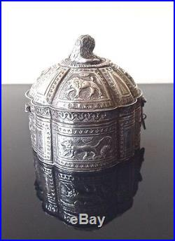Fine Antique Middle Eastern Silver Jewellery Box, 1H20C