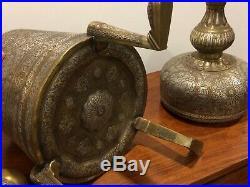 Fine Large Islamic Persian Mamluk Revival Cairware Incense Burner 75 CM H