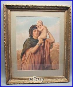 Fine Original 19th C. ENGLISH Orientalist Painting FREDERICK GOODALL c. 1861