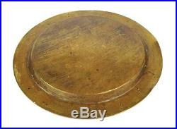 Fine QAJAR Engraved BRASS TRAY c1910 ANIMAL CARTOUCHES